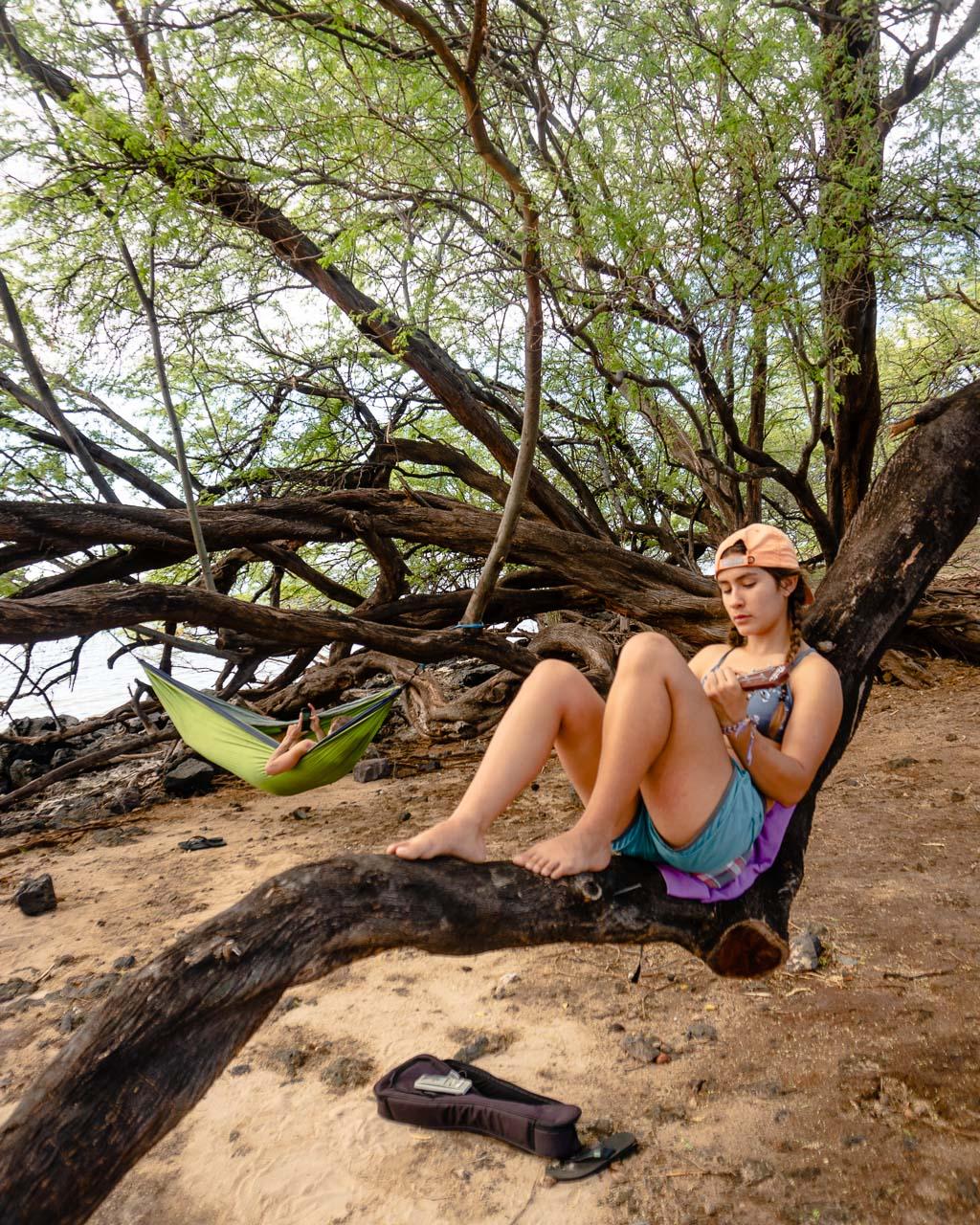 Spencer Beach Camping, Big Island, Hawaii