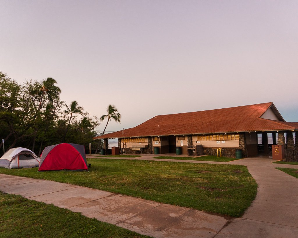 Spencer Beach Camping, Big Island, Hawaii
