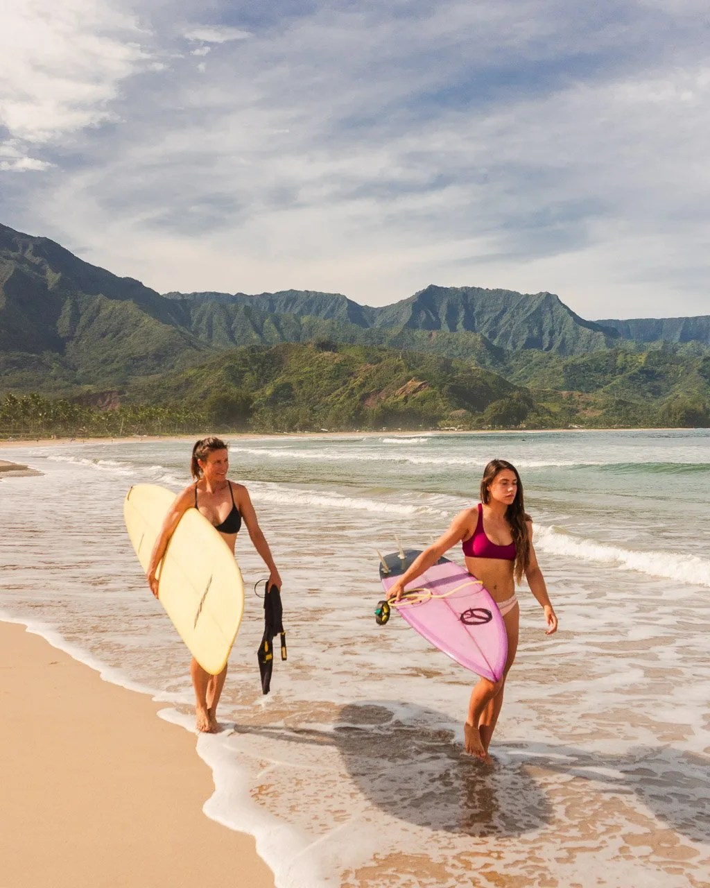 Surfing in Hanalei Bay