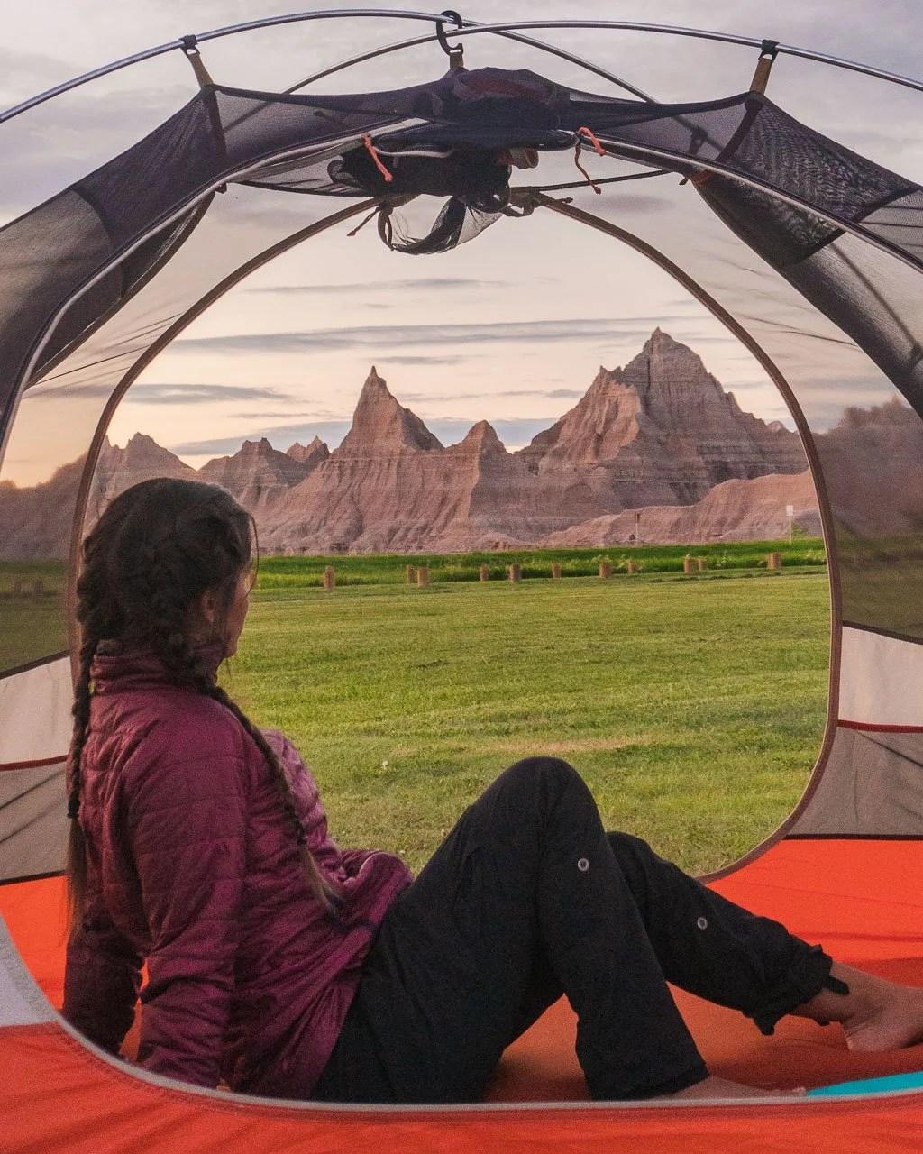 Badlands Campground, South Dakota