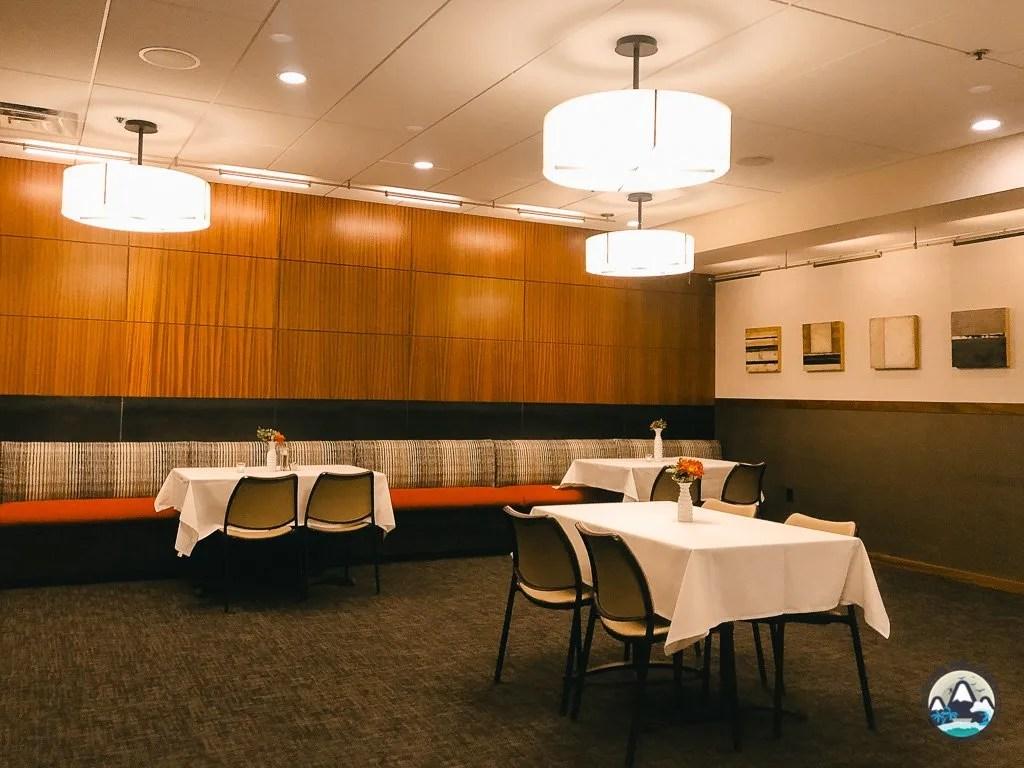 Dinner area at Alta Lodge