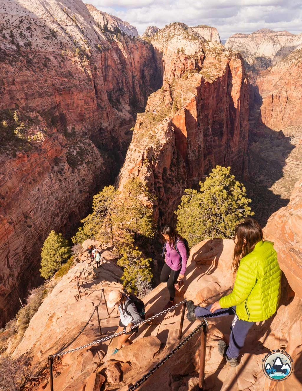 Exposure on Angel's Landing, Zion National Park Hikes