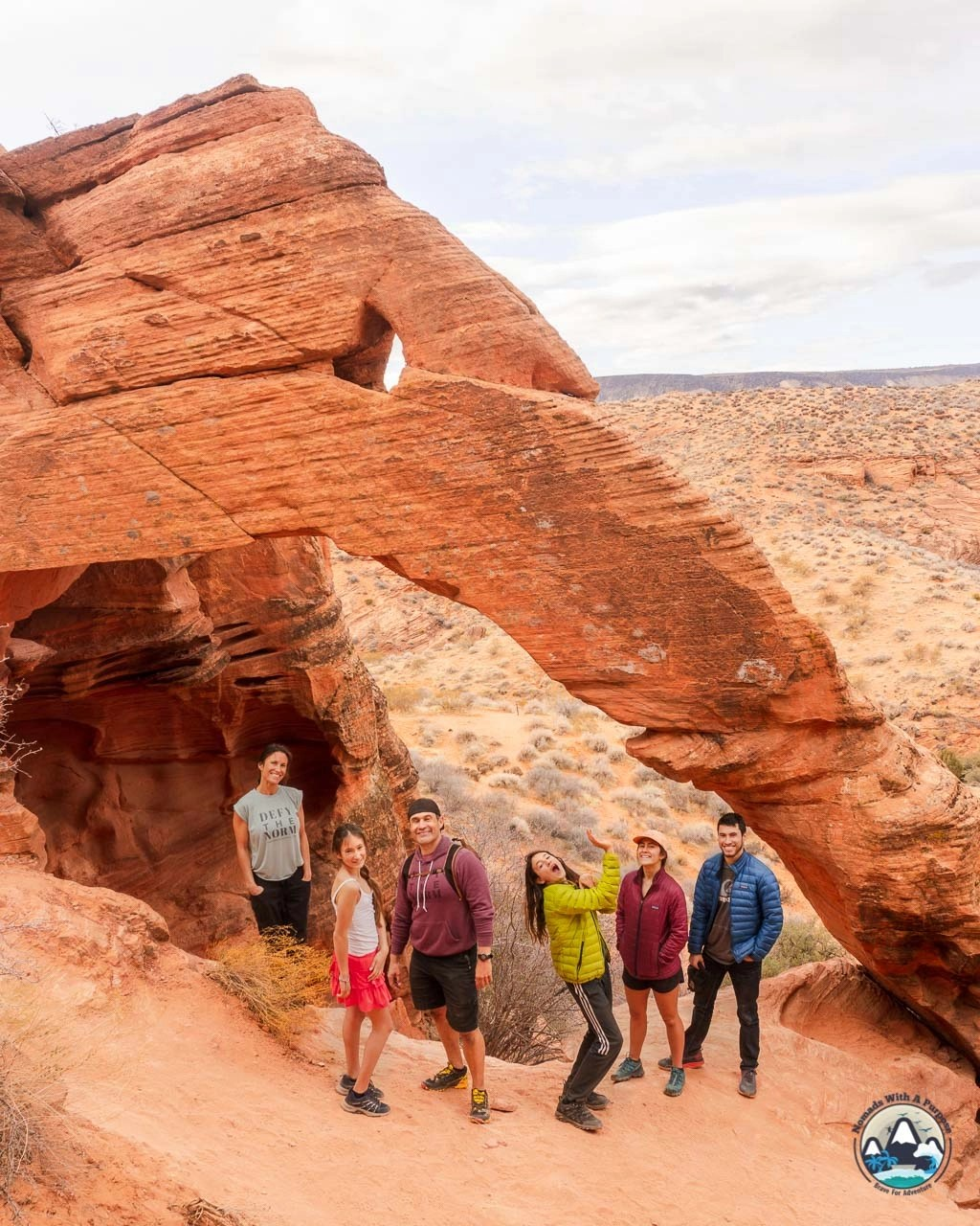 Elephant Arch hiking trail in St George
