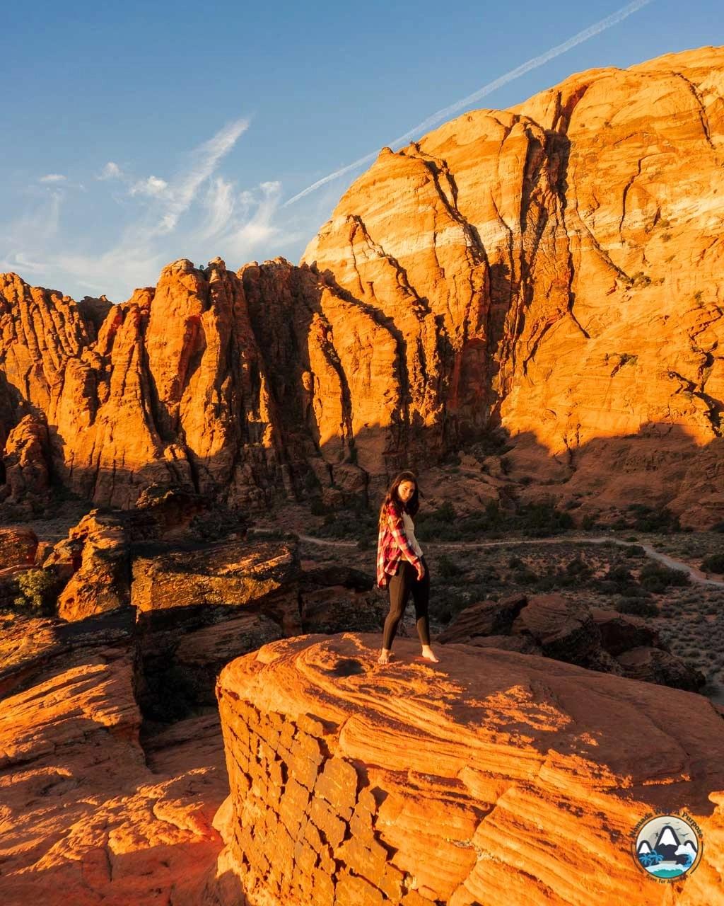 Hidden Pinyon Overlook Trail in Snow Canyon