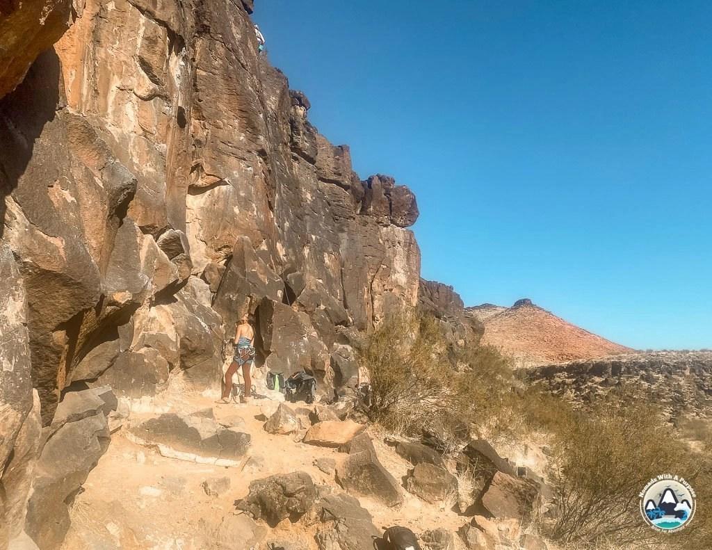 Black Rocks climbing area in St George