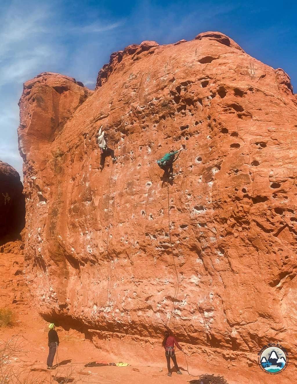 Climbing Dirtbag 10a at Chuckwalla, St George