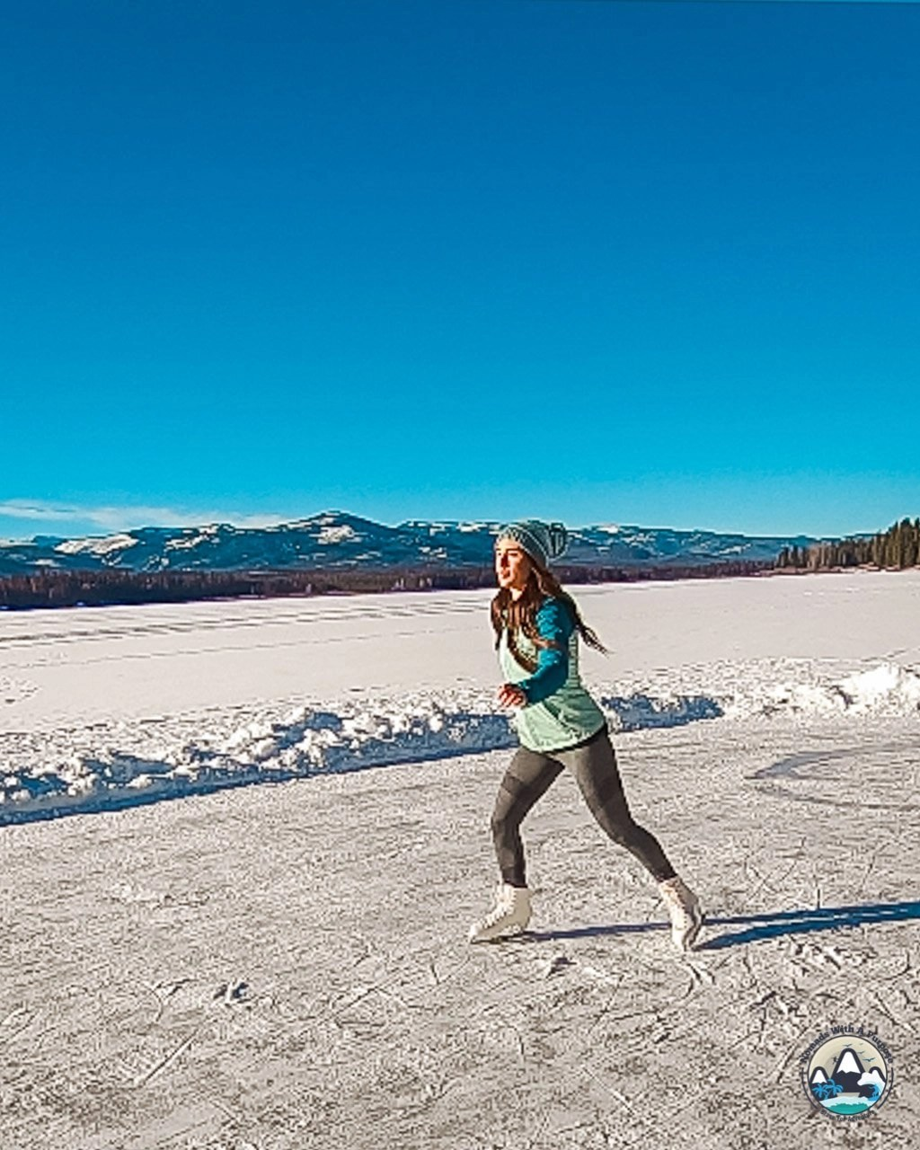 Ice skating on Seeley Lake, winter things to do