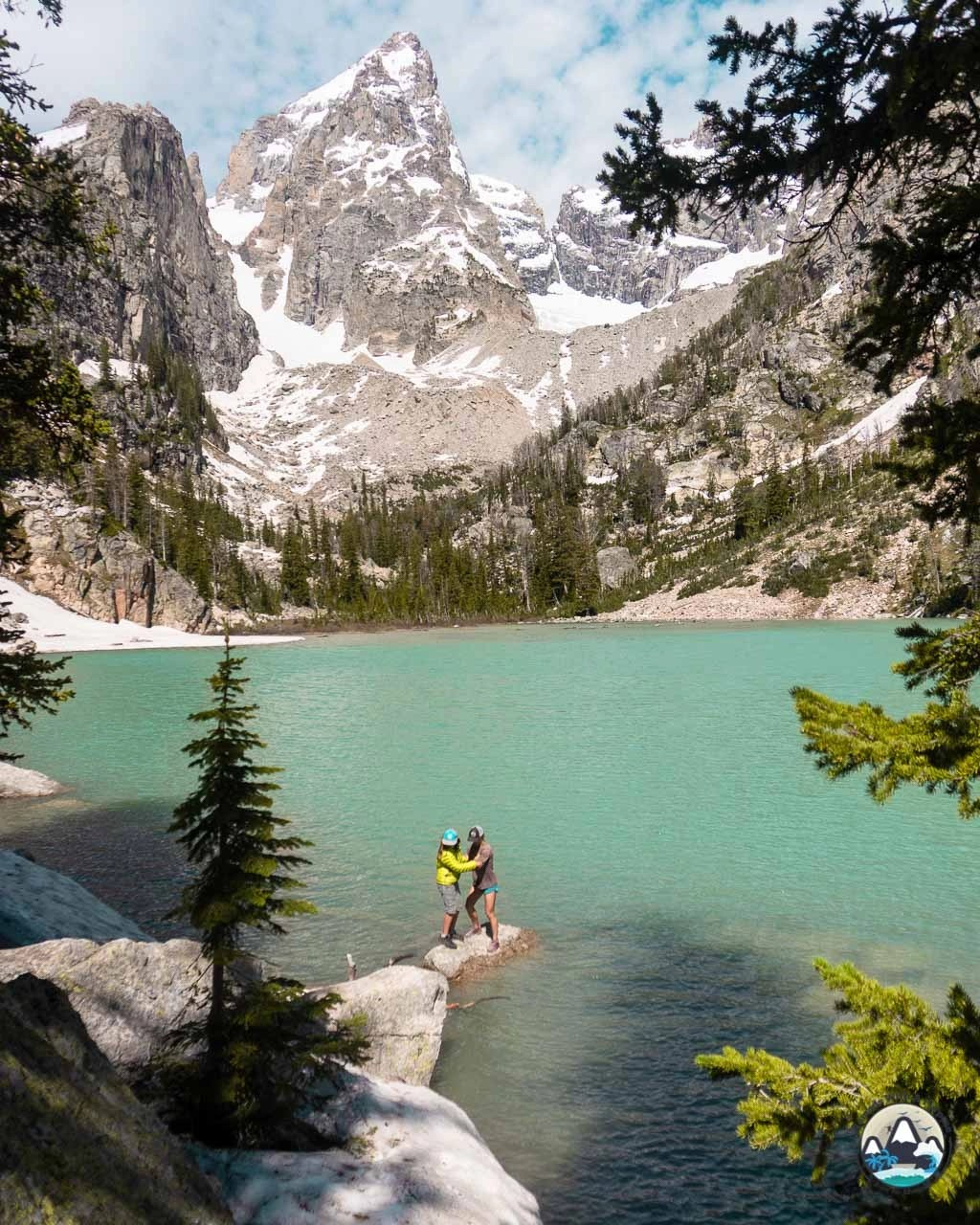 Delta Lake, alpine lake hike, Grand Teton, Wyoming