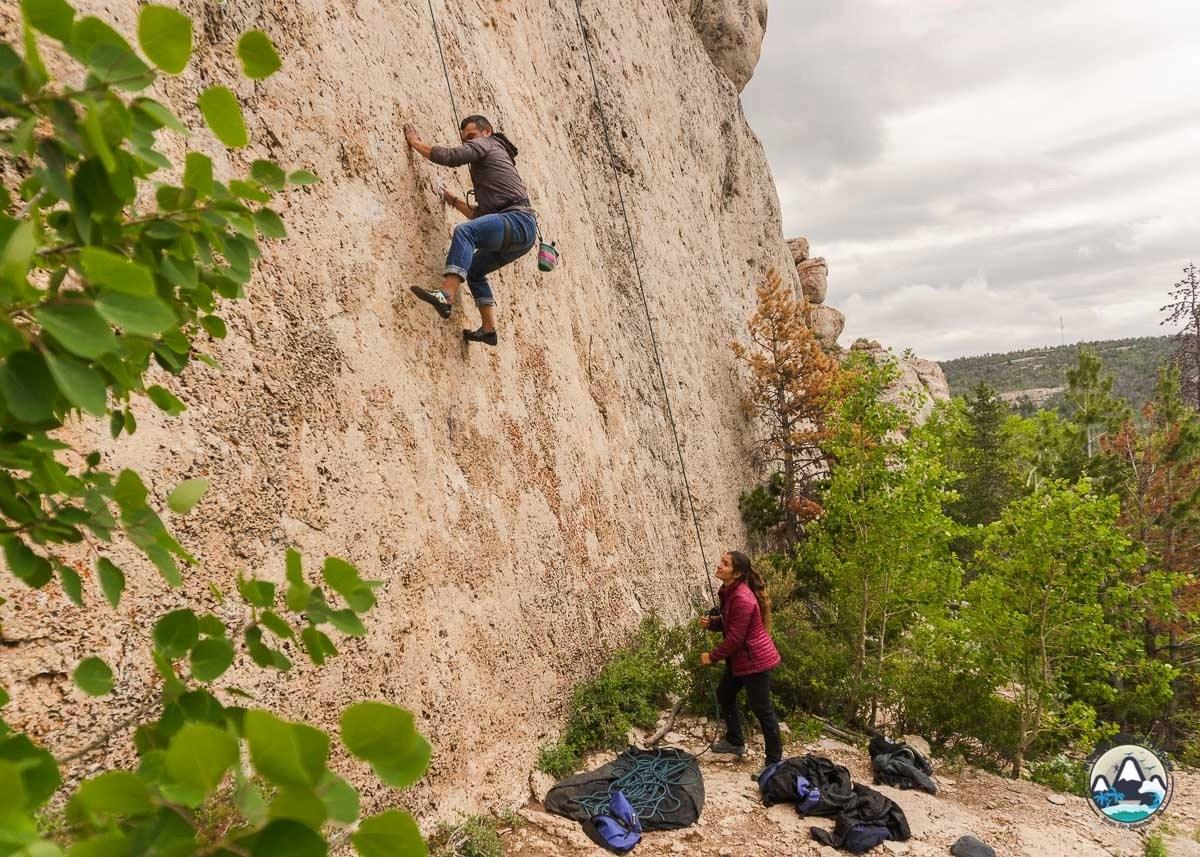 Main Wall, Wild Iris, Lander Climbing