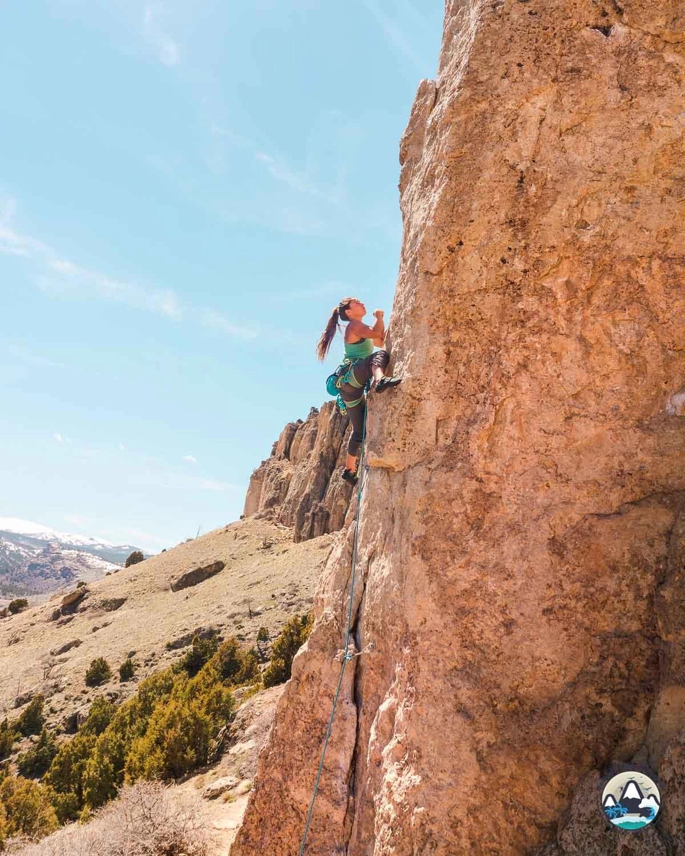 Climbing Sinks Canyon, Scud Wall