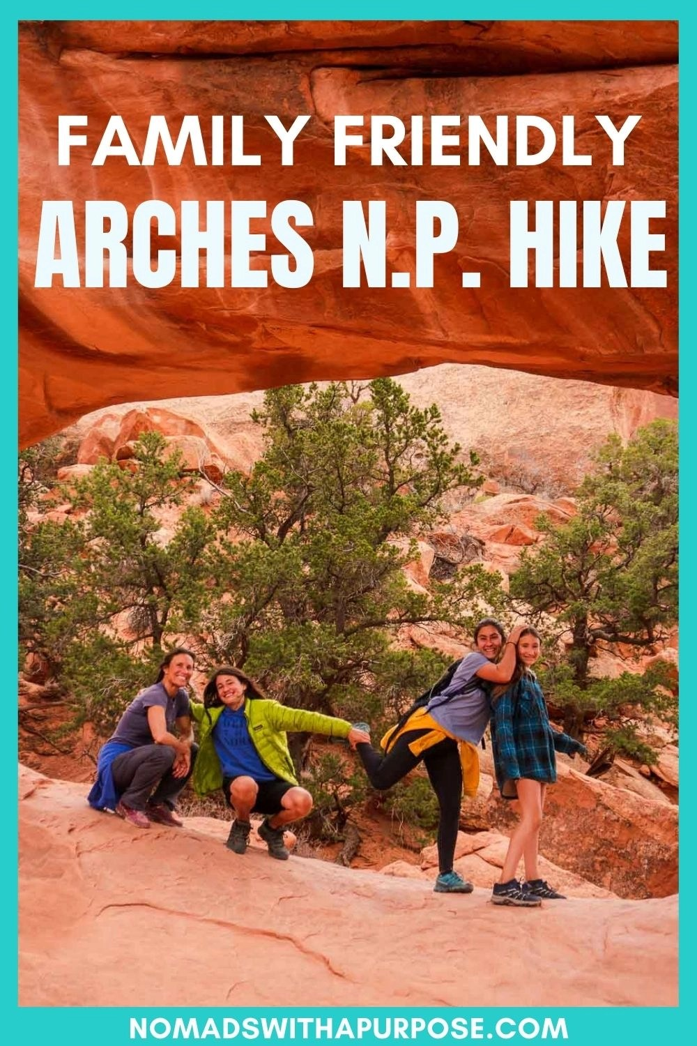 family friendly arches national park hike