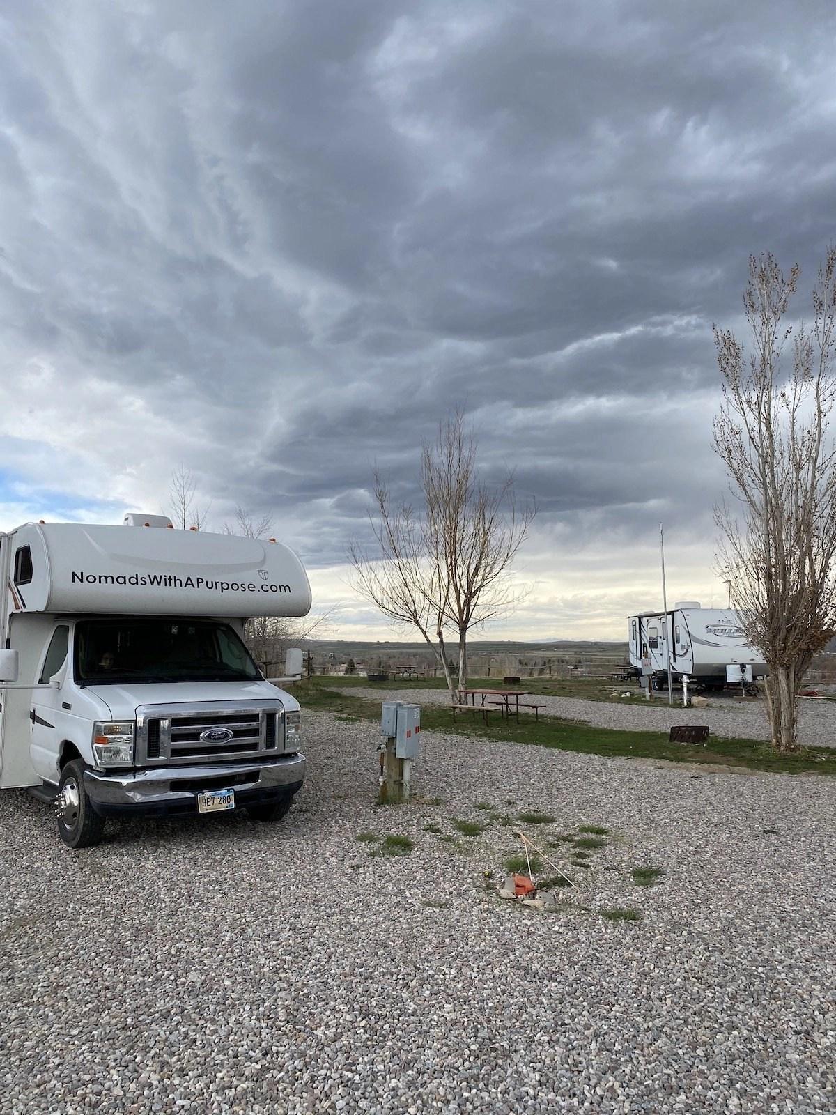 Sleeping Bear RV park, Lander, Wyoming