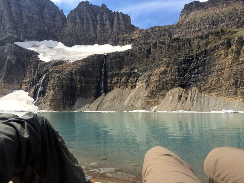 Lunch at Grinnell Glacier