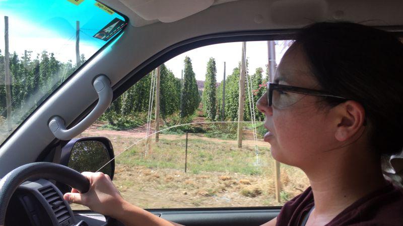 Tamara driving