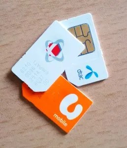 local SIM cards