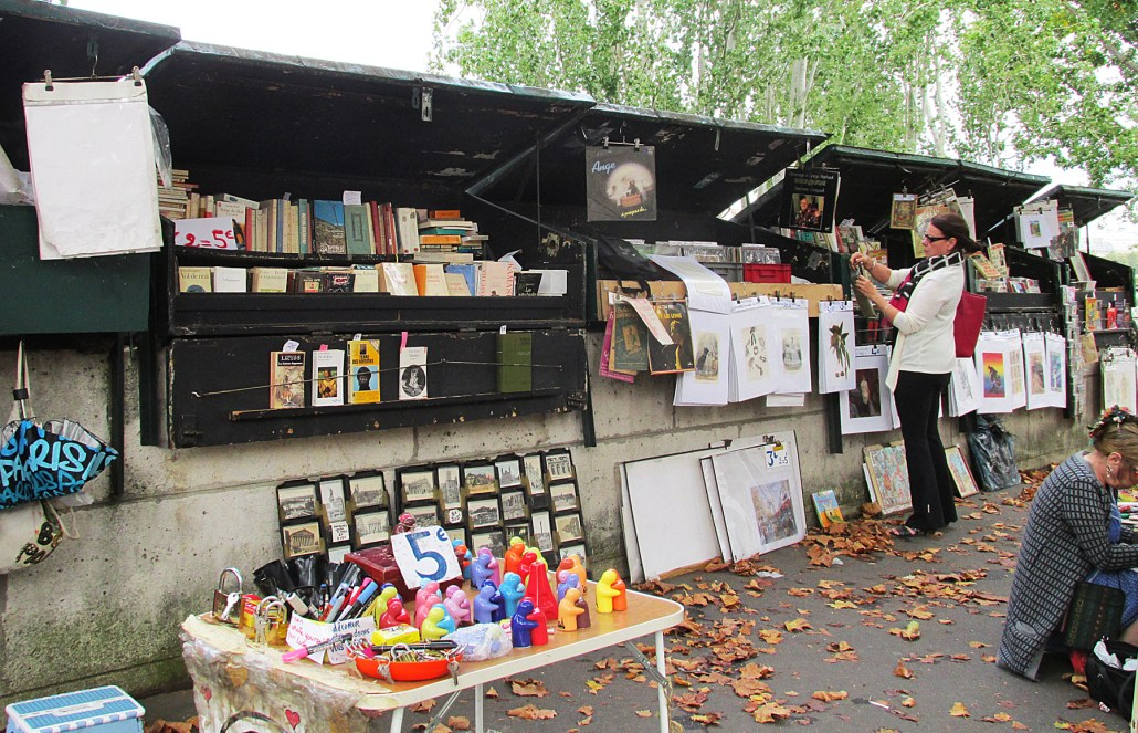 Open-air bookstall along the Left Bank in Paris