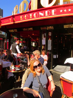 Me enjoying the sunshine at Cafe de la Rotonde
