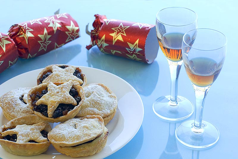 Christmas traditions of mince pies to be left for Santa.