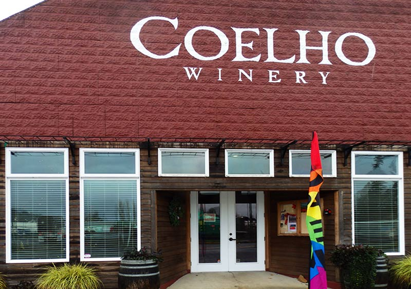 Visit the Coelho Winery and Tasting Room in Amity, Oregon before or after a stop at the Brigittine Monastery for the best chocolate truffles.