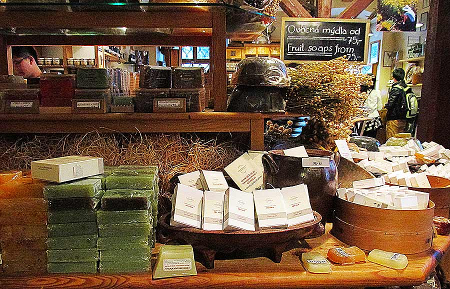 A glimpse of soaps and other organic products at the original Botanicus store.