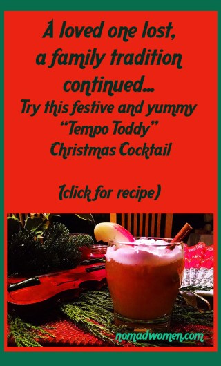 Pin this image for a recipe of a warming and delicious holiday cocktail, from my family to yours.