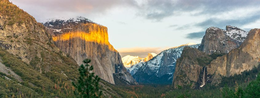 Sunrise over Yosemite. See it for free with a National Parks Senior Pass