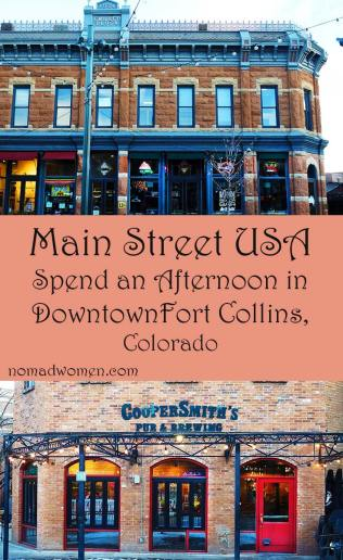 Pin it: Main Street USA. An Afternoon in Downtown Fort Collins, Colorado
