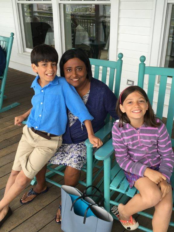 Shobha George and her kids, from Just Go Places