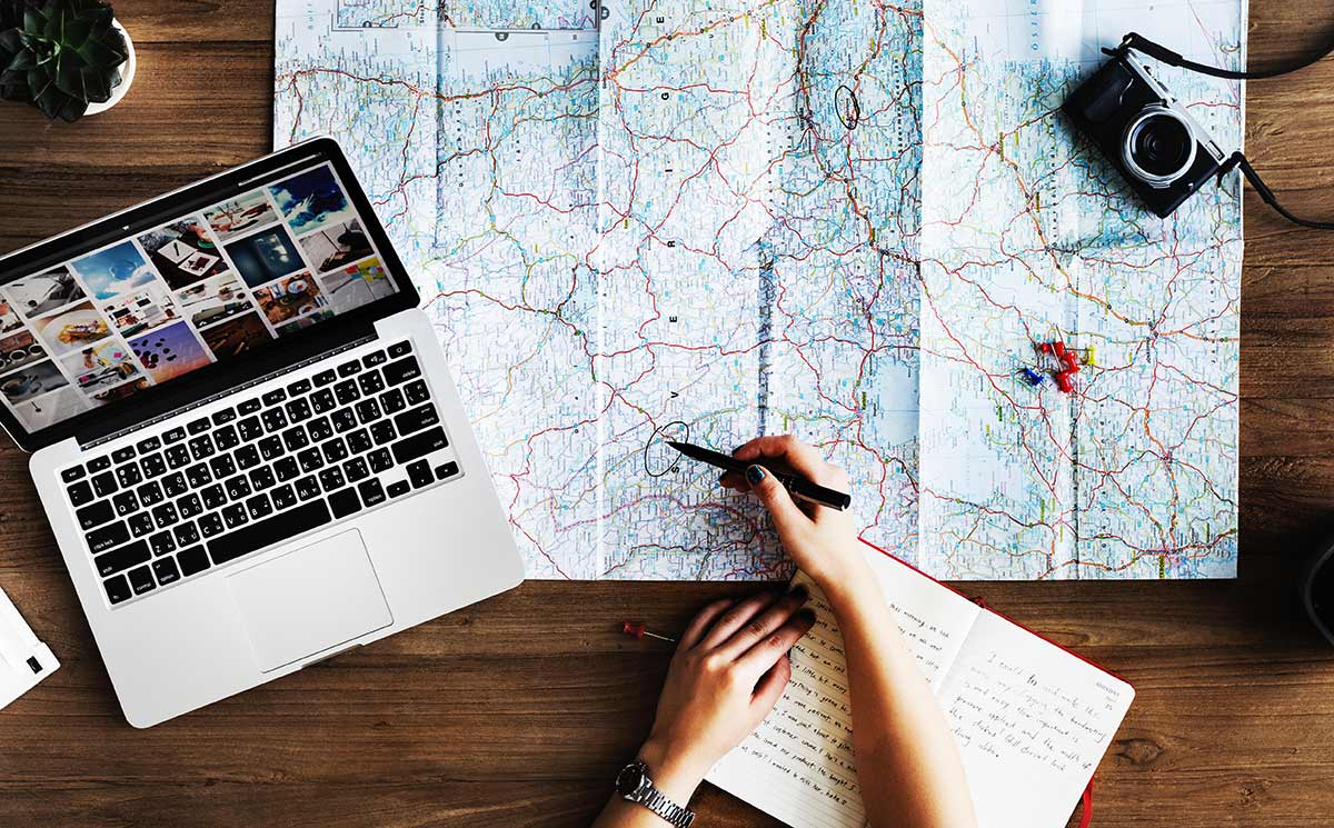 Your travel wishes: The joys of anticipation in your travel planning. Maps and lists, blogs and guidebooks. Yes!