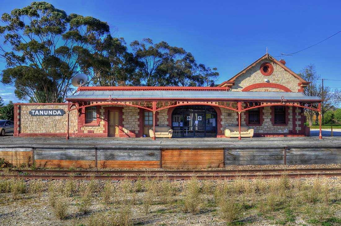 The old Tanunda Railroad Station in the Barossa Valley of South Australia, it's quirky architecture influenced by the early German immigrants.