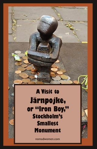Pin for Järnpojke, Iron Boy, the smallest monument in Stockholm.