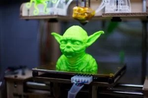 Impression en 3D de Yoda de star wars.