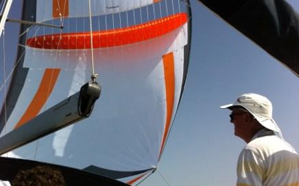 Testvaart met de parasailor