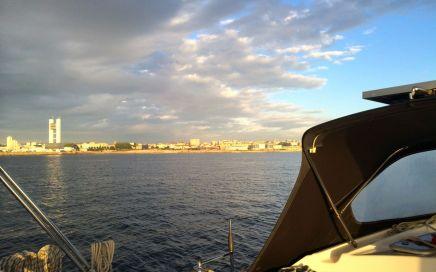 Donkere wolken boven La Coruña