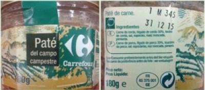paté del campo Carrefour