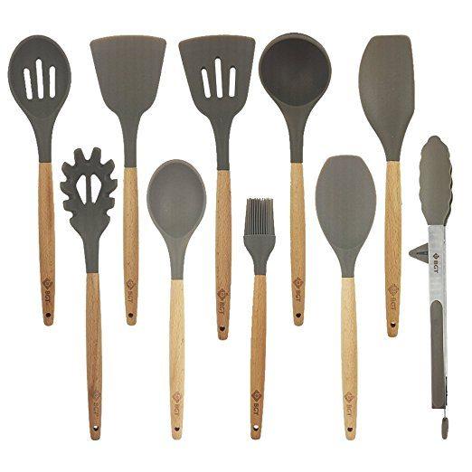 10 Piece Silicone Kitchen Utensil Set By BGT