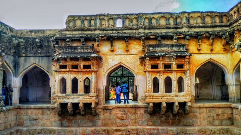 Queen's Palace in Hampi