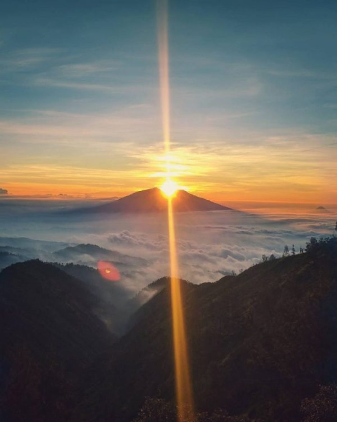 Sunset from Bromo National Park