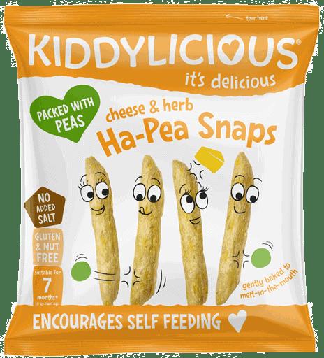 Kiddylicious - Kaas & Kruiden Ha-Pea Snaps