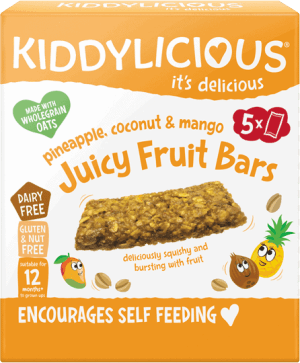 Kiddylicious - Ananas, Kokos & Mango Juicy Fruit Bars