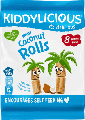 Kiddylicious - Naturel Kokos Rolletjes