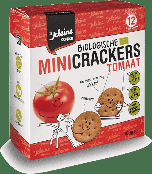 De Kleine Keuken - Biologische Mini Crackers Tomaat