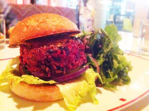 Vegan Bacon Burger from Farmers Fishers Backers