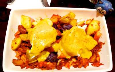 Lobster Hash Egg Benedict $17 for Brunch @ Scion in Silver Spring Maryland
