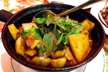 Duck Ginger Hot Pot from Yuan Fu Vegetarian