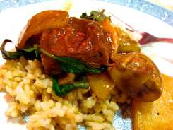 Duck Ginger Hot Pot from Yuan Fu Vegetarian