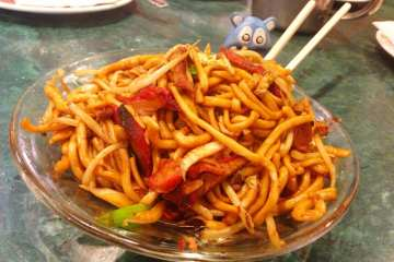 Home Made Fried Noodles from Chinatown Express