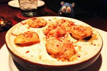 Lump Crab Roasted Shrimp & Spinach Stuffed Mushrooms from Seasons 52