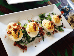 Bacon Deviled Eggs from Piratz Tavern