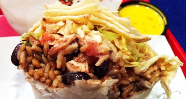 Buffalo Chicken Wing Burrito from California Tortilla